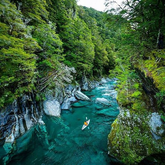 Kayaking at The Blue Pools - New Zealand