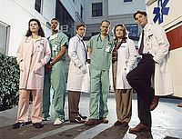 ER ... Starring Anthony Edwards, George Clooney, Sherry Stringfield,   Noah Wyle, Eriq La Salle, and Julianna Margulies