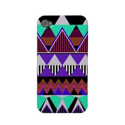 Pop Neon Tribal 3 iPhone 4/4S Case-Mate Case Iphone 4 Case-mate Case by OrganicSaturation