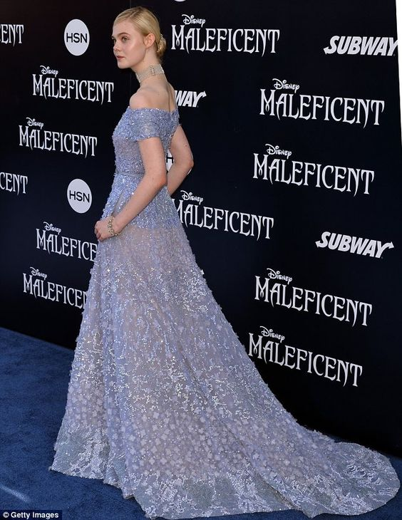 Stun in a floor length embellished princess gown #DailyMail