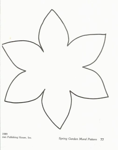 Preschool flower template image search results templates for Preschool flower crafts templates