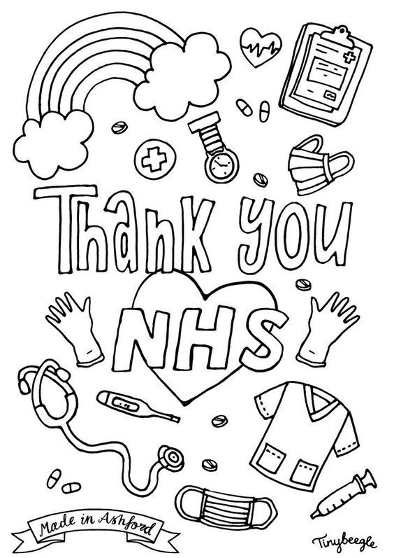 62 Nhs Thank You Art Nhs Thank Coloring Sheets Coloring Pages Inspirational Free Printable Coloring Pages