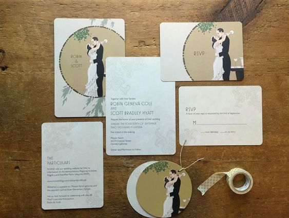 Sponsor Saturday – Wedding Invitations with Gatsby Glamour from GoGoSnap!
