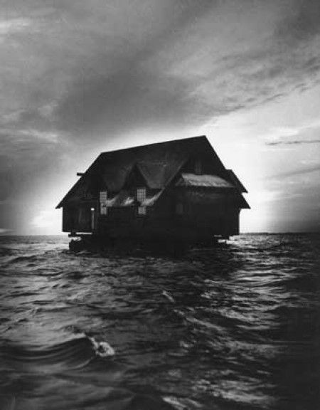 Yale Joel for LIFE - House being moved across the bay, Maine, 1951. S)