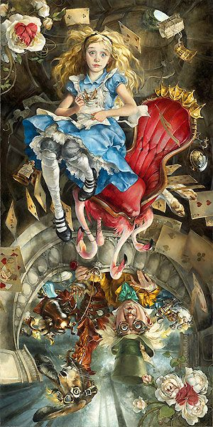 Alice in Wonderland - We're All Mad Here - Heather Theurer - World-Wide-Art.com