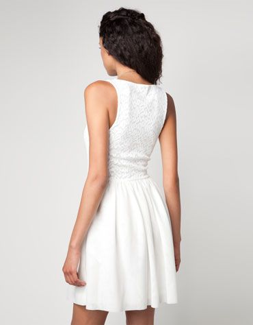 Bershka España - Vestido Bershka detalle tejido