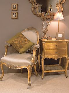 http://www.frenchbedroomcompany.co.uk/ Like the metallic look of this furniture.