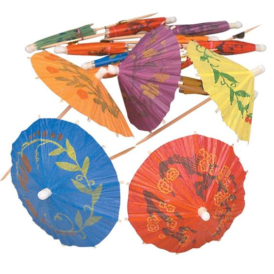 Amazon.com | Cocktail Parasol Drink Umbrellas -Box of 144- Tropical Style: Cocktail Picks: Cocktail Picks