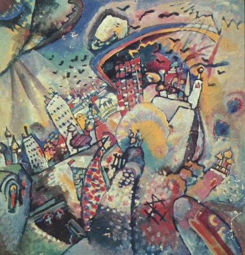 Wassily Kandinsky, Moscow, Red Square, 1916 (