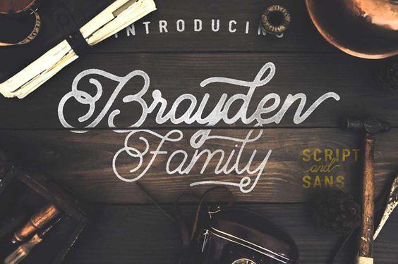 Brayden Family #fonts #typefaces #fontbundle #typography #scriptfont #marchbundle