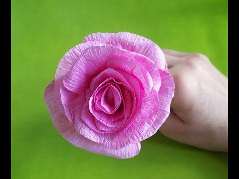 Como Hacer Rosa De Papel Crepe Facil Diy Como Hacer Flores Blumen Basteln Aus Papier Blumen Basteln Rosen Basteln