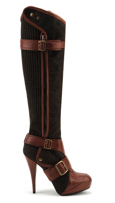 These are drop dead sexy, walking that fine line between riding boot and dominatrix with a lot of class.