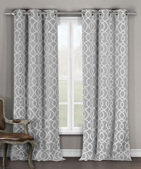 Duck River Textile Gray Harris Blackout Curtain Panel - Set of Two ...