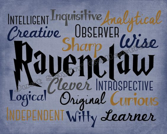 This print celebrates the wonderful traits of the House of Ravenclaw. *Print does not come with any frame or matte. *Prints are for personal