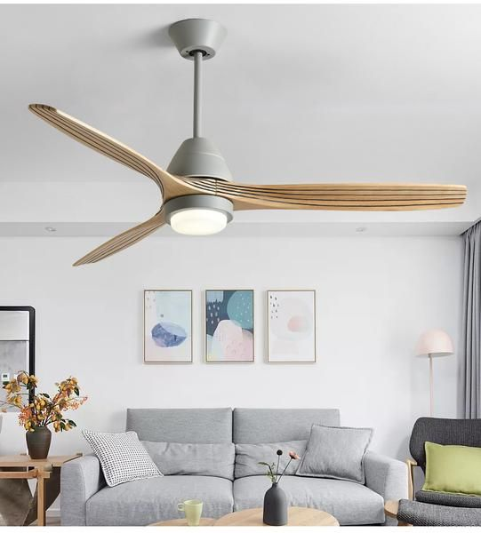 Modern Nordic Ceiling Fan With Led Light Living Room Ceiling Fan