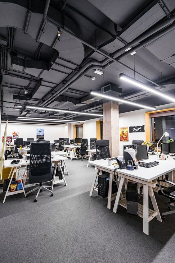 40 Elegant Open Ceiling Office Design Ideas