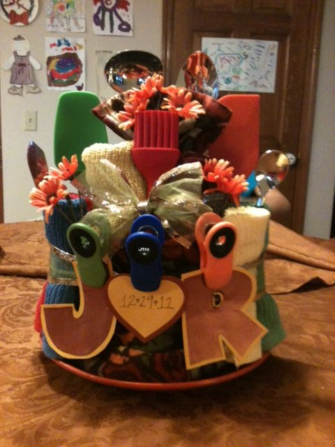 Wedding Shower Gift For Brother : sisters dishes presents bridal shower towels flower cakes showers ...