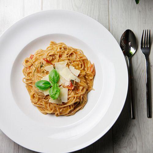Cremige Vollkorn-One-Pot-Pasta