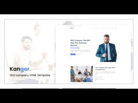 Kangor Seo Company Html Template Themeforest Templates Seo Company Html Templates Web Design