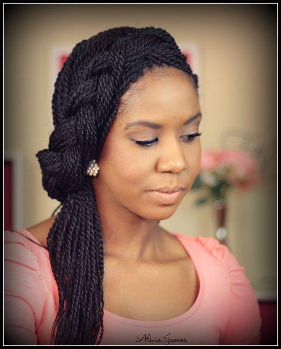 Wedding In Kenya With Twist Hair Style