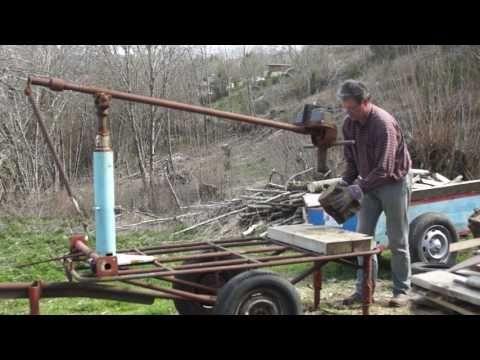 Fendeuse Bois Manuelle Feraille Manuel Log Splitter Made From Old Iron Youtube Wood Splitter Log Splitter Splitting Wood