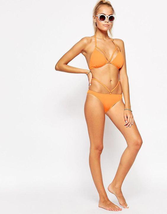 Evil Twin | Evil Twin Fanta Strappy Triangle Bikini Top at ASOS