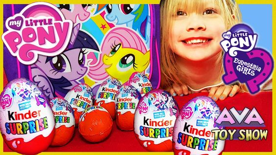 My Little Pony Equestria Girls Kinder Surprise Eggs opening on Ava Toy Show