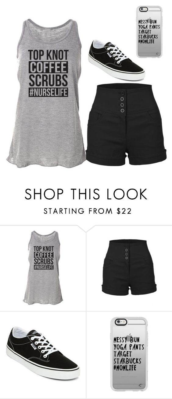 """Untitled #75"" by saraburge31 ❤ liked on Polyvore featuring LE3NO, Vans and Casetify"