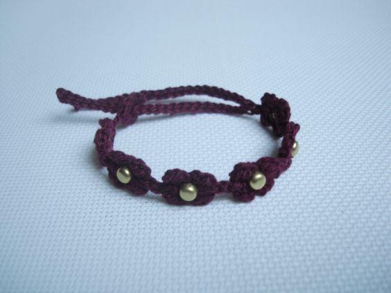 #Bracelet   #Handmade #Crochet by Hilaria Fina  https://www.facebook.com/hilaria.fina