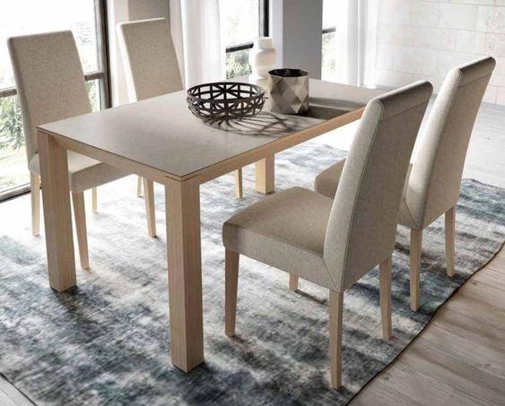 Fotos de comedor de estilo mesa porcel nico sillas for Fabrica de mesas y sillas de comedor