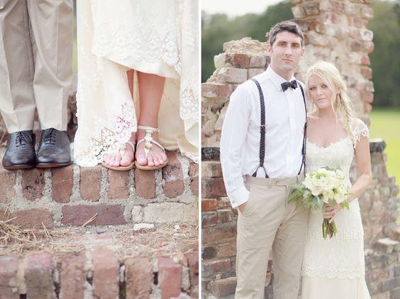 Bohemian Wedding in Charleston with Spanish Moss: Honna + Patrick