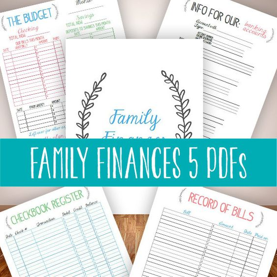 instant download family binder finances budget bills management household organizer planner