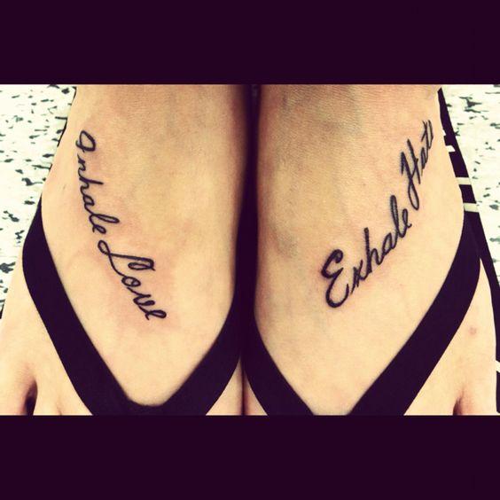 Love Exhale Hate Tatto...