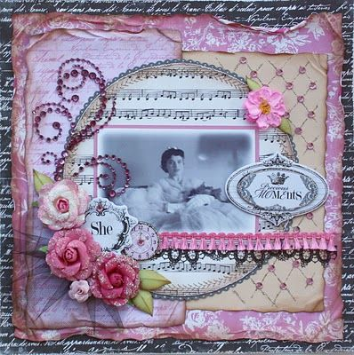 Vintage scrapbook - Great layers and distress @loriturner check it out...