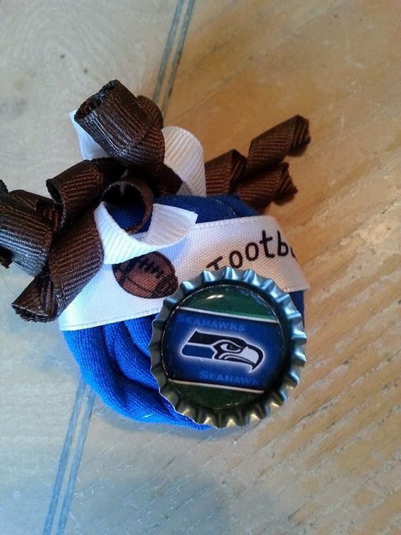 Seahawks BIG GAME Rosette clip you choose by BySunshineDesign, $10.00