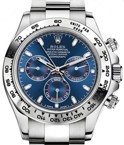116509 Blue Rolex часы Daytona White gold