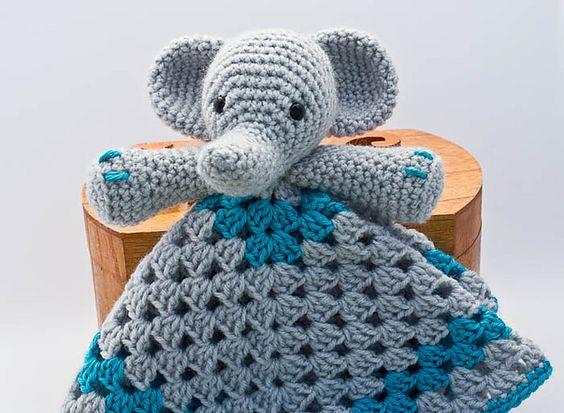 Free Crochet Pattern Elephant Lovey : Pinterest The world s catalog of ideas