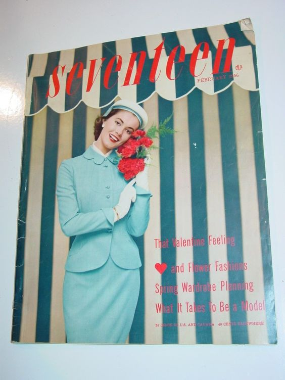 Seventeen Magazine February 1956 fashion 1950's mcm | eBay