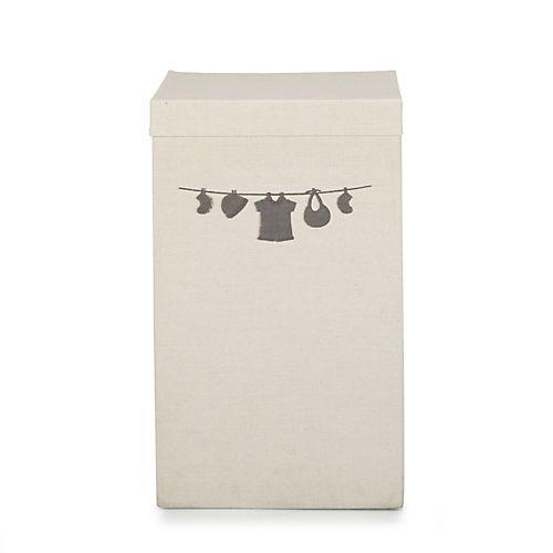 Bill  - Paniers à linge-Salle de bains Panier à linge beige à couvercle