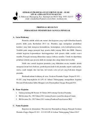 Contoh Penutup Proposal Kegiatan Pramuka : contoh, penutup, proposal, kegiatan, pramuka, Contoh, Proposal, Persami, IlmuSosial.id
