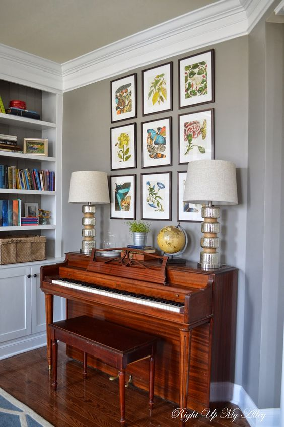 Melody Loves The Idea Of An Upright Piano In Our Living Room Like The Lamps