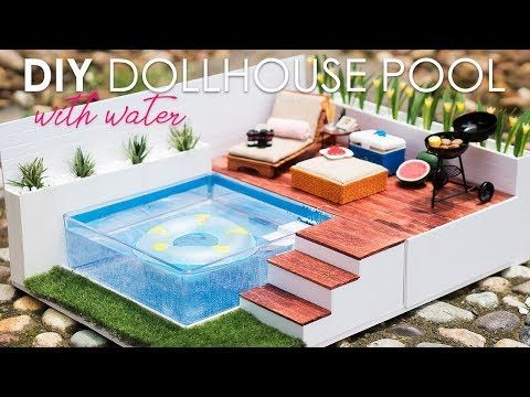 Diy Miniature Swimming Pool Dollhouse Miniatures Diy Doll House Crafts Diy Dollhouse