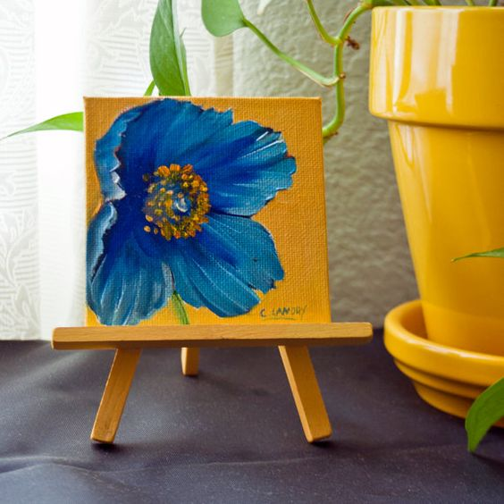 Mini paintings paintings on canvas and poppies on pinterest for Small canvas boards