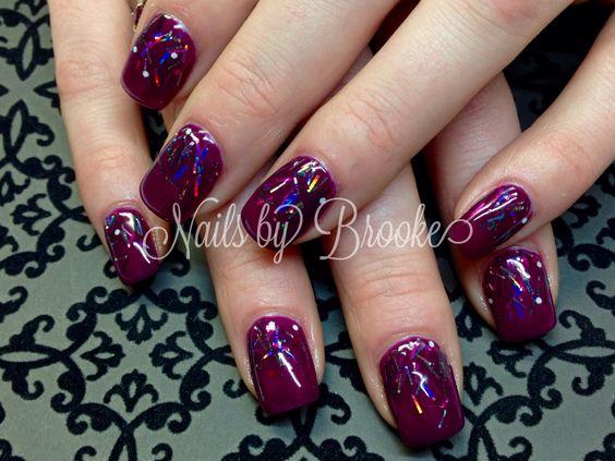 Bordeaux tinsel glitter