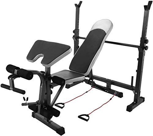 New Happybuy Olympic Weight Bench For Full Body Workout Exercise Olympic Bench Adjustable 660lb Weight Benches Adjustable Weight Bench Adjustable Workout Bench