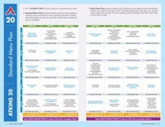 atkins diet induction menu plans