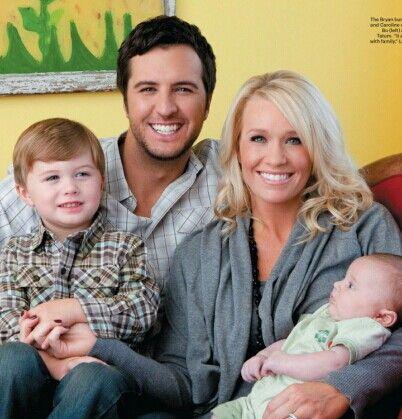 the Luke Bryan family, a hot man, a hot wife, and cute kids