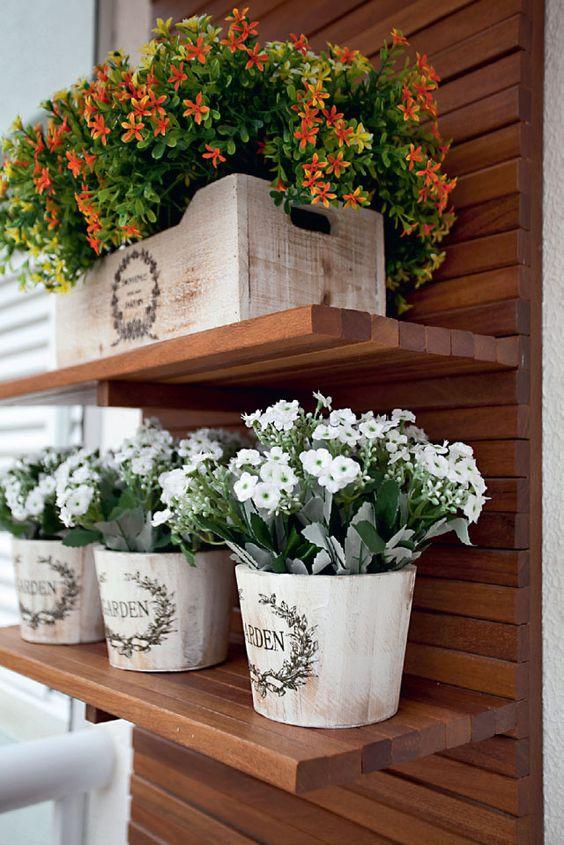 jardim vertical sacada:Jardins Pequenos e Bonitos, Jardins na Sacada!