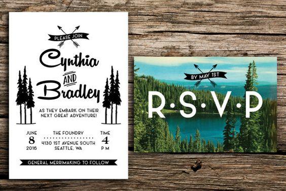 Lake Themed Wedding Invitations: Trees, Invitations And Lakes On Pinterest
