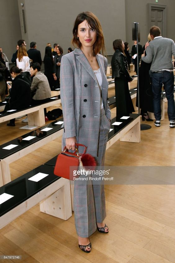 Jeanne Damas attends the Nina Ricci show as part of the Paris Fashion Week Womenswear Fall/Winter 2017/2018 on March 4, 2017 in Paris, France.
